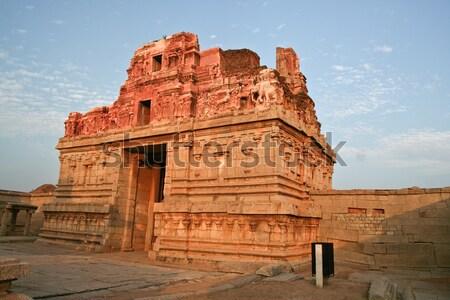 Eski ören Hindistan gün batımı Bina sanat Stok fotoğraf © Juhku