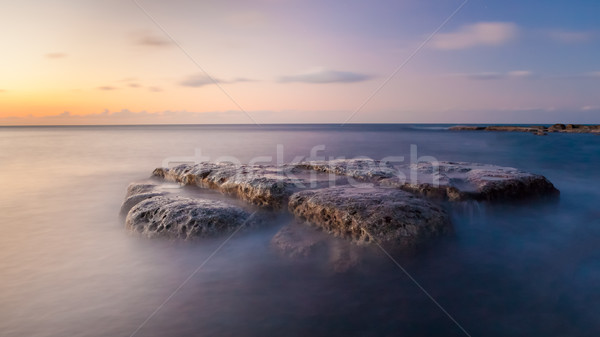 Long exposure waterscape and rock Stock photo © Juhku
