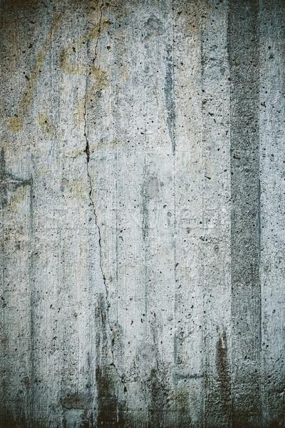 Verwitterten konkrete Wand Textur Freien städtischen Stock foto © Juhku