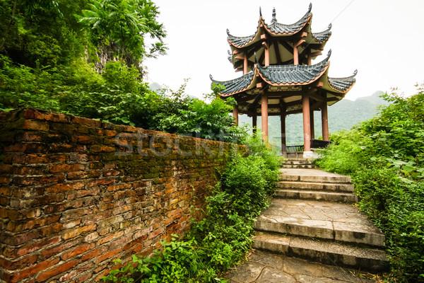 Chinese pavilion in nature Stock photo © Juhku