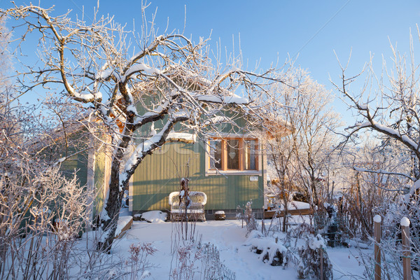 Summer cabin at winter Stock photo © Juhku