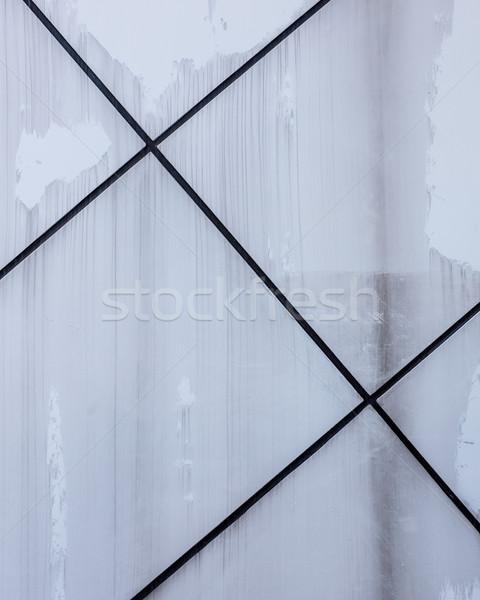 Pared textura diagonal negro líneas mojado Foto stock © Juhku