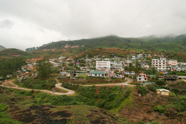 Miasta Indie budynków chmury charakter krajobraz Zdjęcia stock © Juhku