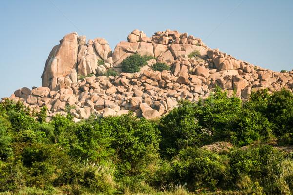 Big boulders landscape in hampi Stock photo © Juhku