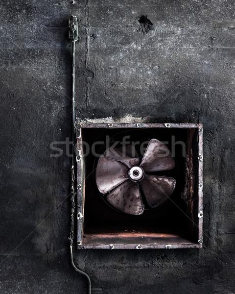 Abandonné climatisation fan usine grunge Photo stock © Juhku