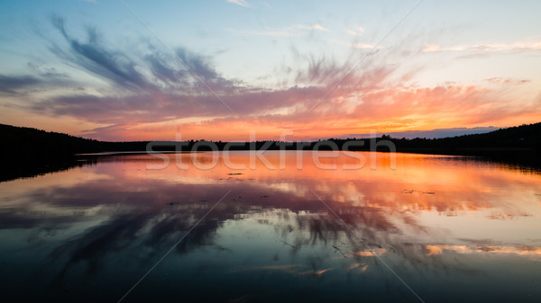 Colorful sunset reflection Stock photo © Juhku