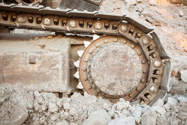 も 中古 掘削機 クローズアップ 建設 砂 ストックフォト © Juhku