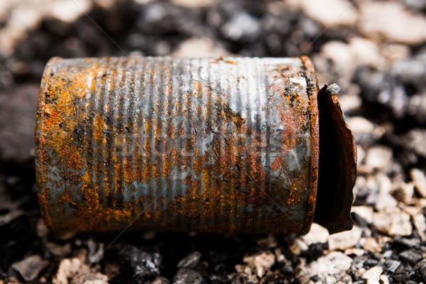 олово можете землю заброшенный городского мусор Сток-фото © Juhku