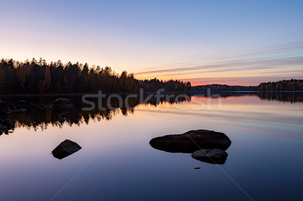 Stock photo: Serene view of calm lake