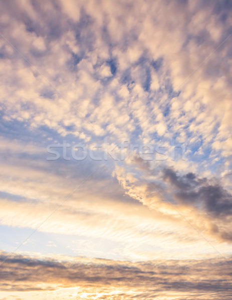 Calm sunset clouds and blue sky Stock photo © Juhku