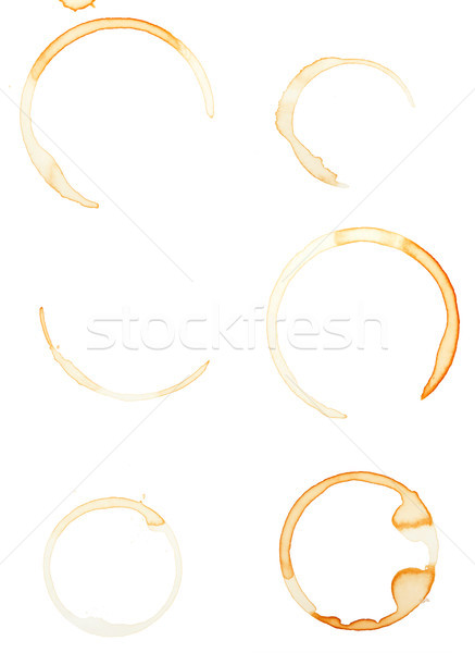 Coffee stains isolated on white Stock photo © Juhku