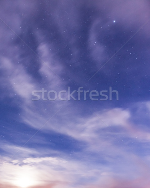 Starry sky and clouds Stock photo © Juhku