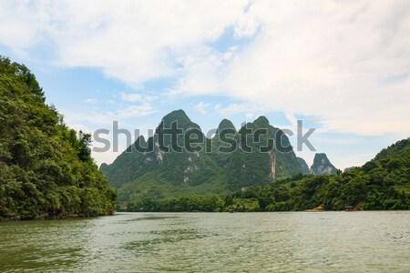 竹 ラフティング 川 中国 空 水 ストックフォト © Juhku