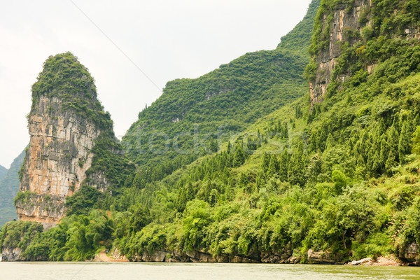 Landscape from li river Stock photo © Juhku