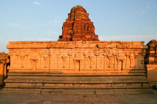 Vecchio rovine India tramonto costruzione arte Foto d'archivio © Juhku