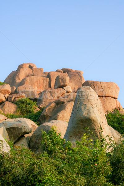Big boulders in hampi Stock photo © Juhku