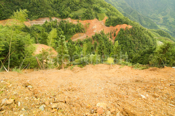 View of landslide in china Stock photo © Juhku