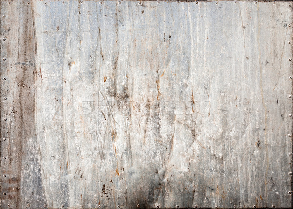 Gebeitst metaal textuur muur achtergrond industriële donkere Stockfoto © Juhku