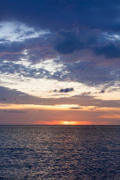 Ocean sky scape sunset Stock photo © Juhku