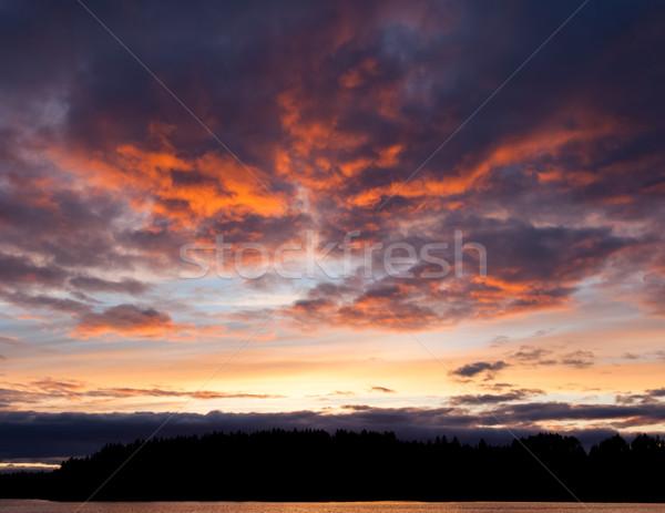Coucher du soleil ciel paysage belle sombre Photo stock © Juhku