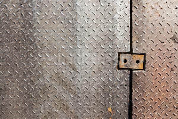 Stockfoto: Vuile · metaal · diamant · greep · patroon · textuur