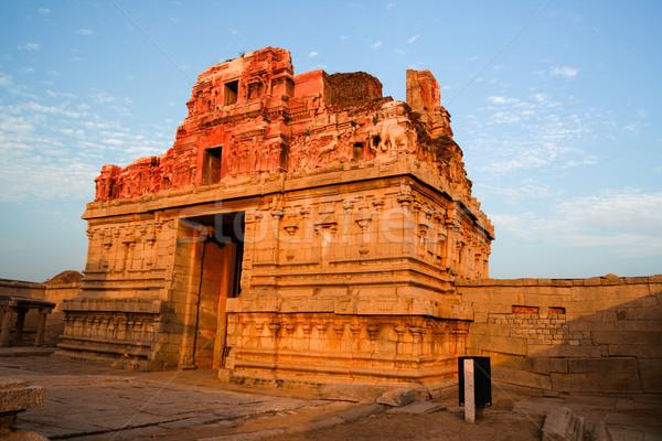 Romok India naplemente épület művészet építészet Stock fotó © Juhku