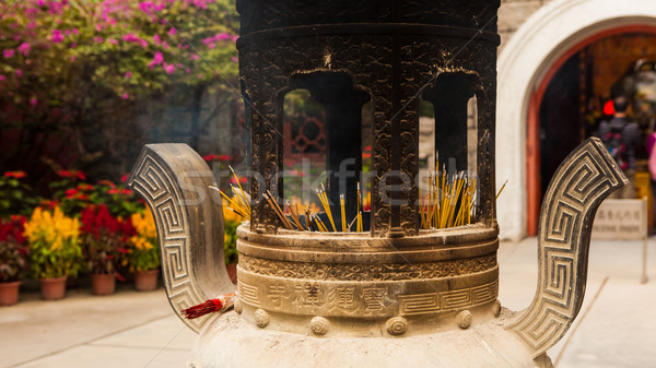 chinese incense urn Stock photo © Juhku
