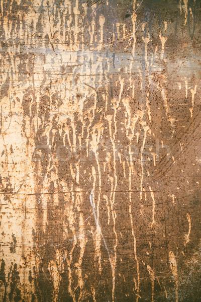 Stock fotó: Rozsdás · textúra · festék · öreg · elnyűtt · sötét