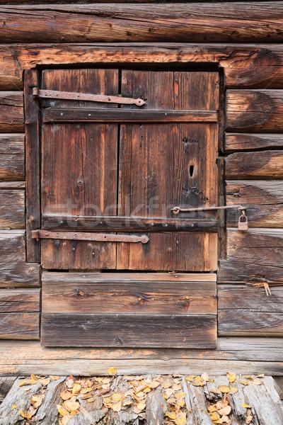 Stok fotoğraf: Eski · ahşap · ahır · kapı · kapalı · Bina