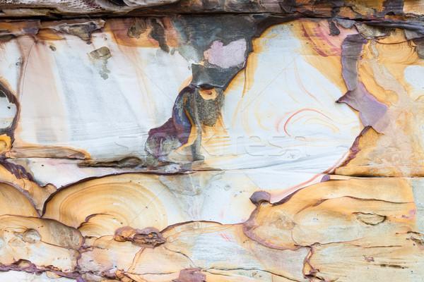 Natuurlijke zandsteen formatie muur abstract park Stockfoto © Juhku