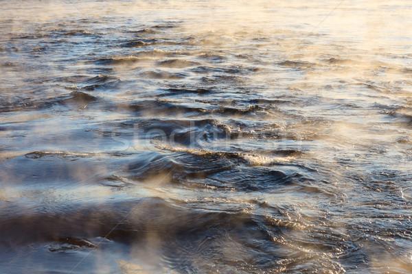 水 蒸気 表面 冷たい 冷たい 晴れた ストックフォト © Juhku
