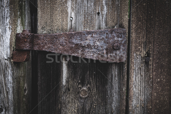 Vieux rouillée s'articuler grange porte texture Photo stock © Juhku