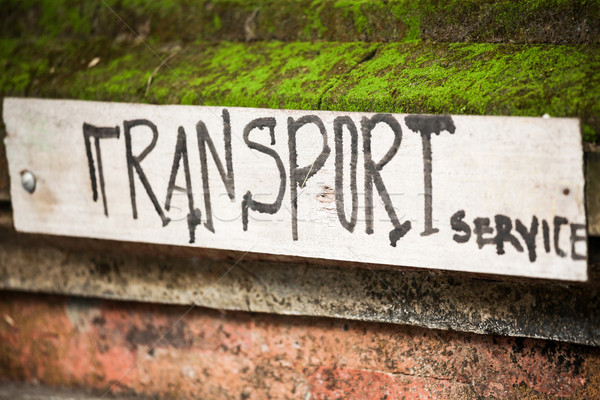Handmade transport service sign Stock photo © Juhku