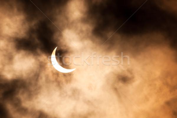 солнечной затмение облака небе солнце природы Сток-фото © Juhku