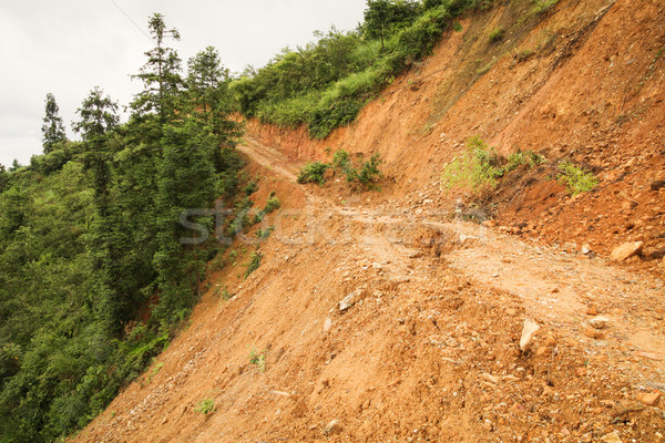 Close view of landslide in china Stock photo © Juhku