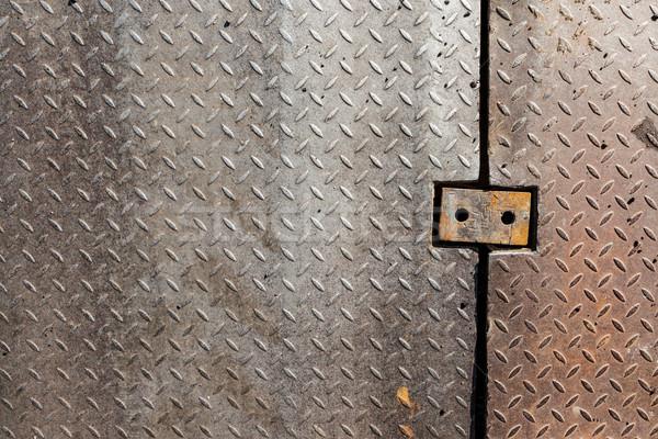 Koszos fém gyémánt markolás minta textúra Stock fotó © Juhku
