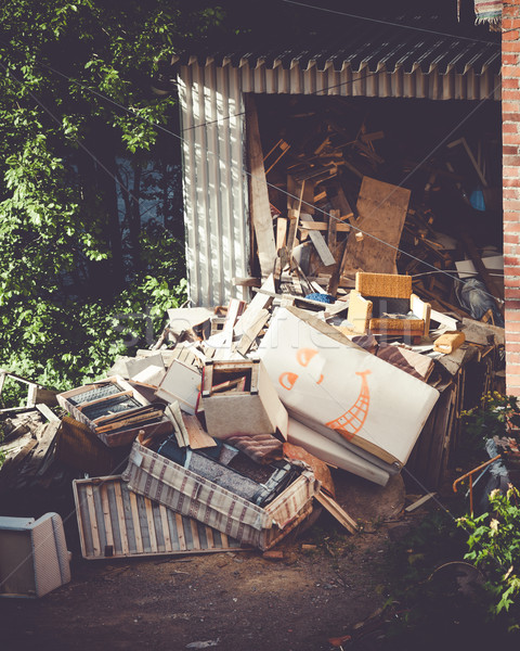 Stock photo: Funny broken furnitures trash pile