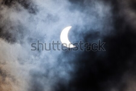 Stockfoto: Zonne · eclips · wolken · zon · abstract · licht