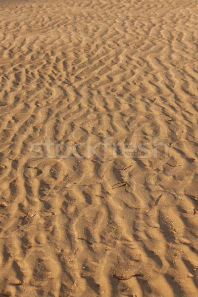 Piasek na plaży tekstury wzór fali plaży morza tle Zdjęcia stock © Juhku