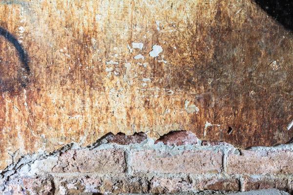 Murdar beton perete mare crăpa textură Imagine de stoc © Juhku