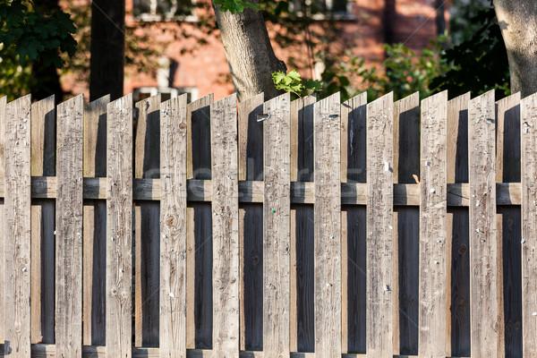 Fából készült kerítés használt hirdetőtábla öreg textúra Stock fotó © Juhku