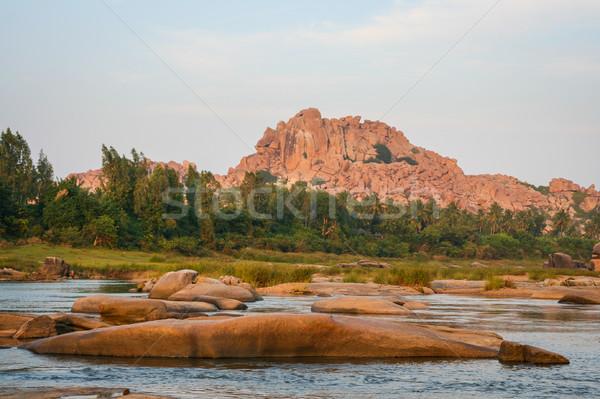 Río paisaje India cielo naturaleza Foto stock © Juhku