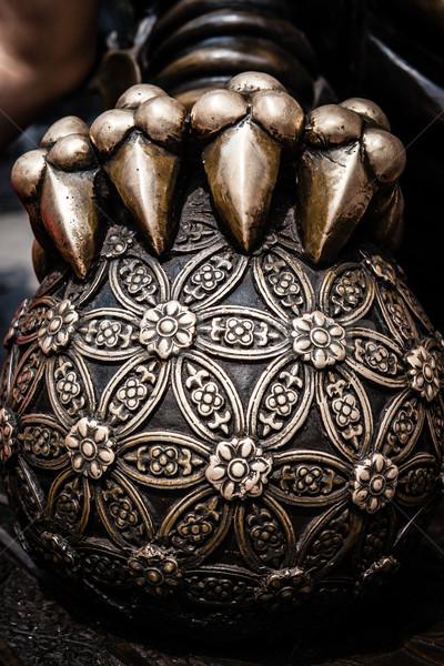 Chinese guardian lion ball closeup Stock photo © Juhku