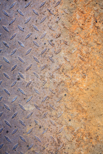 Dirty metal diamond grip pattern Stock photo © Juhku