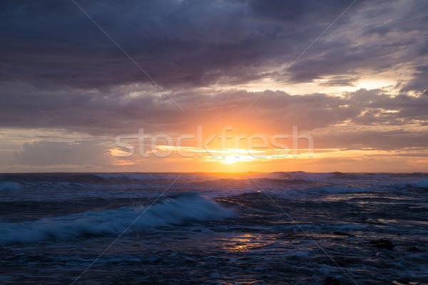 Sea scape waves sunset Stock photo © Juhku