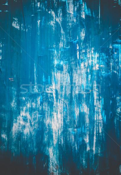 Scratched blue metallic texture Stock photo © Juhku