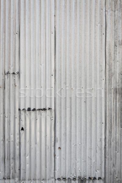 Corrugated metal wall background Stock photo © Juhku