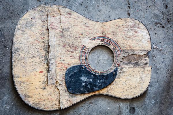 Broken acoustic guitar Stock photo © Juhku