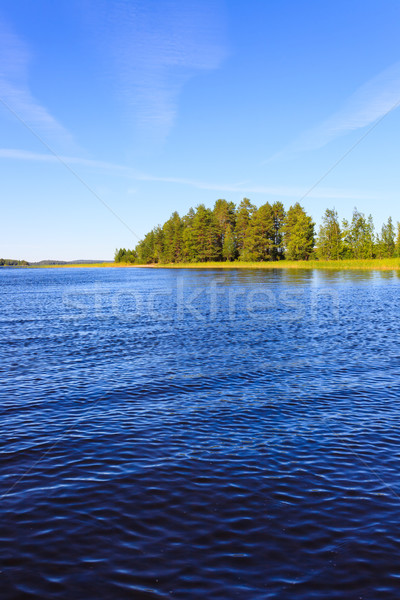 Lake scenery in Finland on a sunny day Stock photo © Juhku
