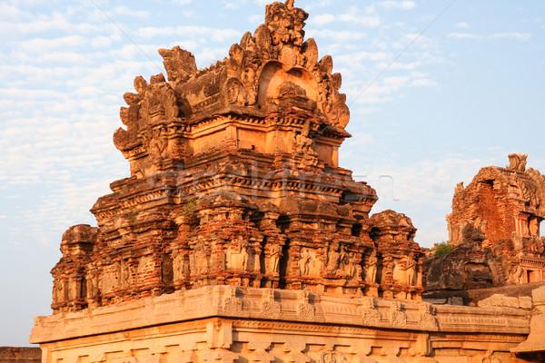Beautiful details ruins of hampi Stock photo © Juhku